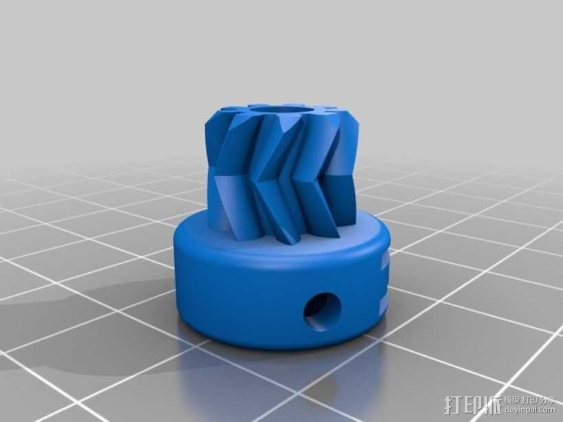 齿轮驱动挤出机 3D模型  图11