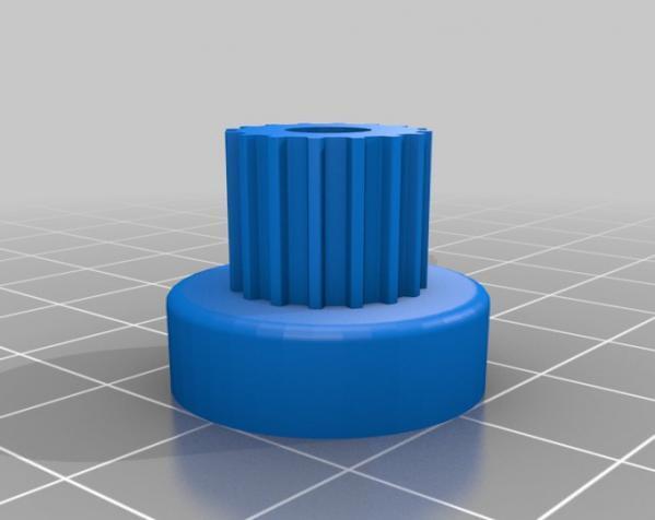 带齿轮滑轮 3D模型  图3