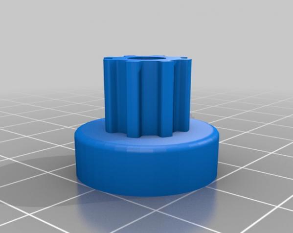 带齿轮滑轮 3D模型  图2