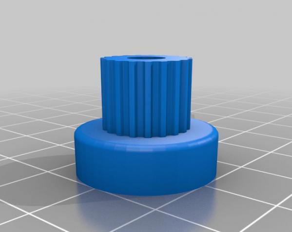 带齿轮滑轮 3D模型  图4