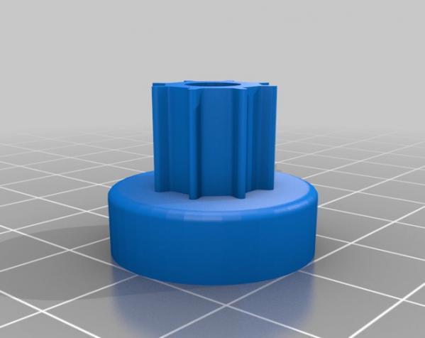 带齿轮滑轮 3D模型  图5