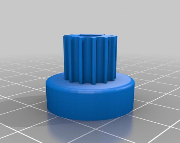 带齿轮滑轮 3D模型  图9