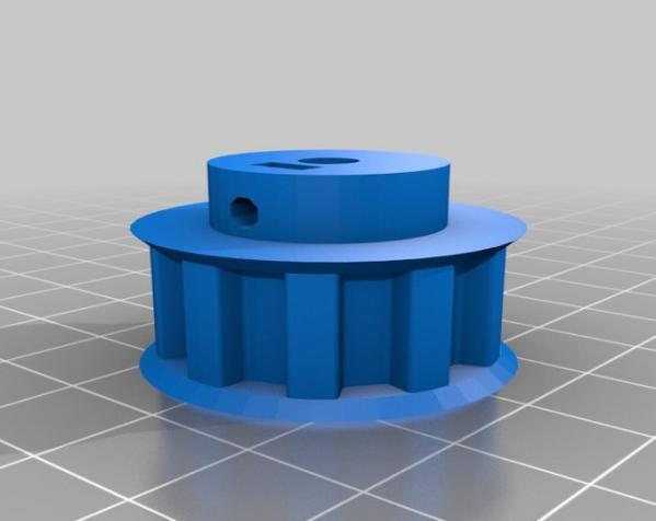 带齿轮滑轮 3D模型  图7