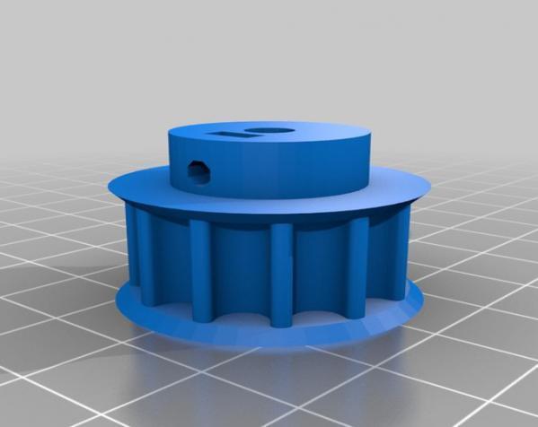 带齿轮滑轮 3D模型  图12