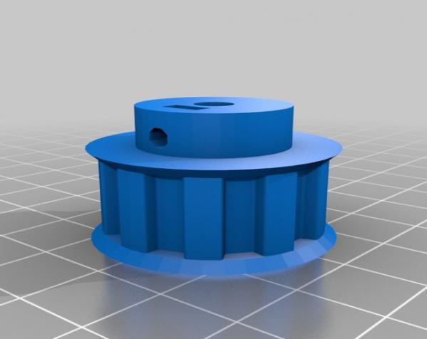 带齿轮滑轮 3D模型  图13