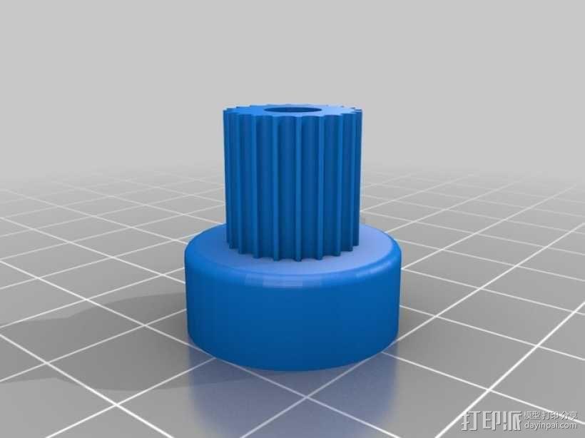 带齿轮滑轮 3D模型  图14