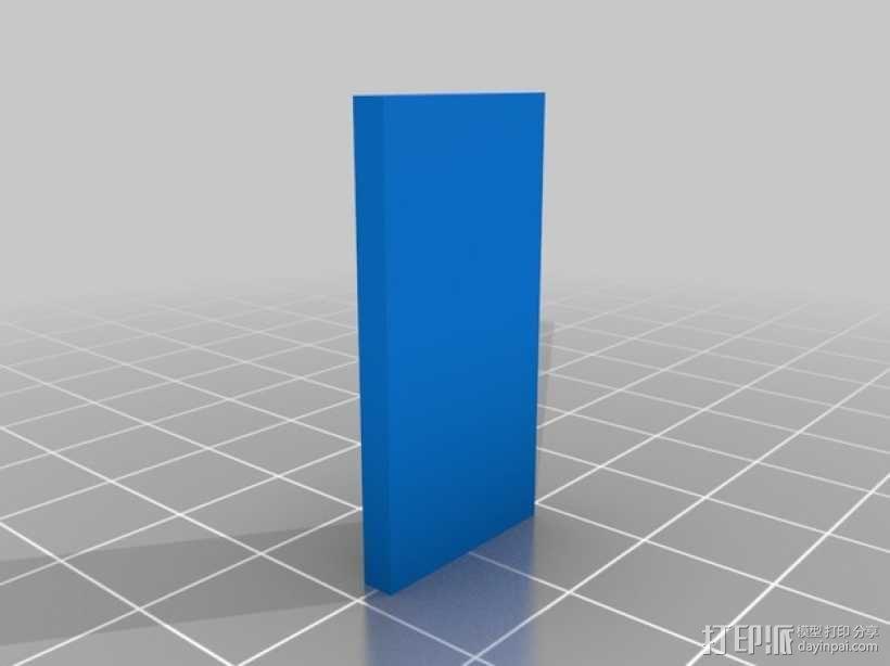 机械门锁 3D模型  图2