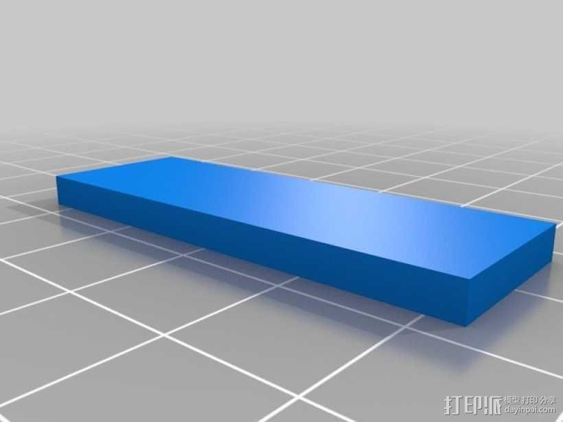 机械门锁 3D模型  图3