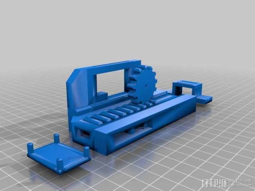机械门锁 3D模型  图4