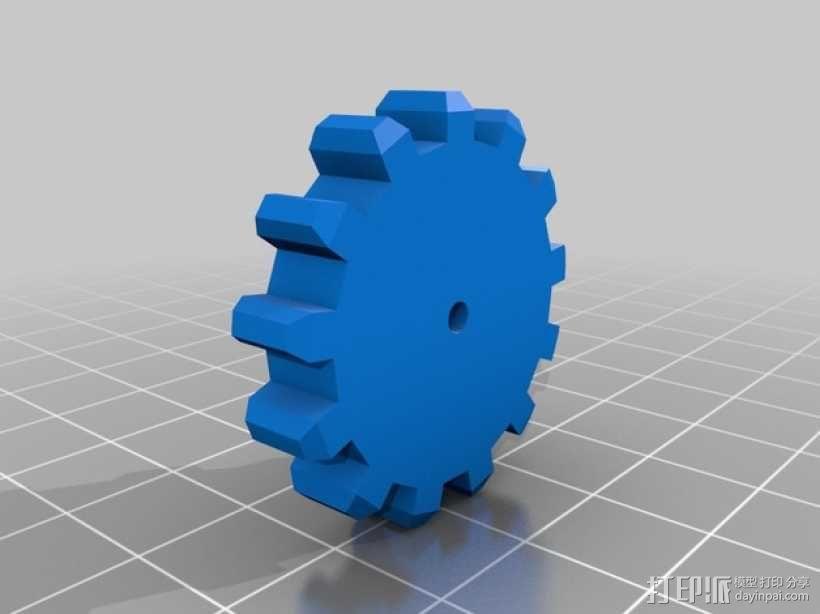 机械门锁 3D模型  图6