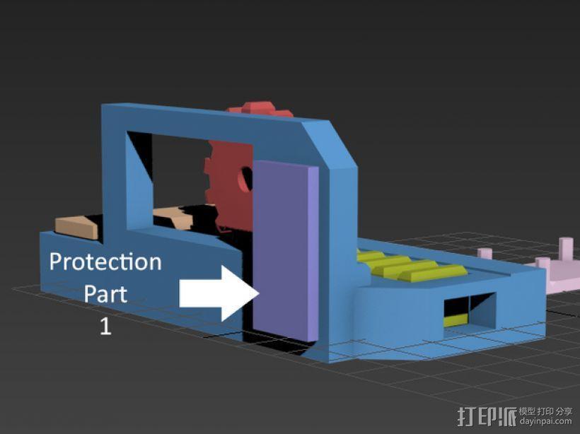 机械门锁 3D模型  图10