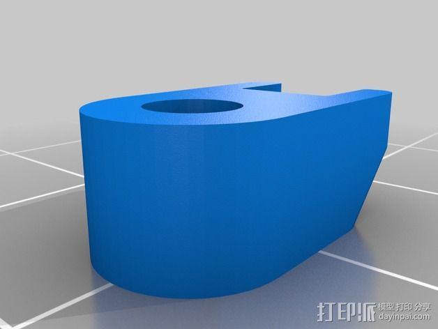 M3束线带带扣 3D模型  图4