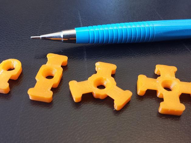 M3平机螺丝束线带 3D模型  图2