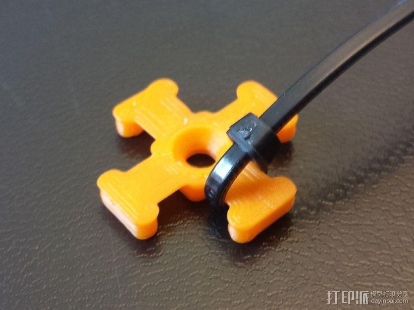 M3平机螺丝束线带 3D模型  图3