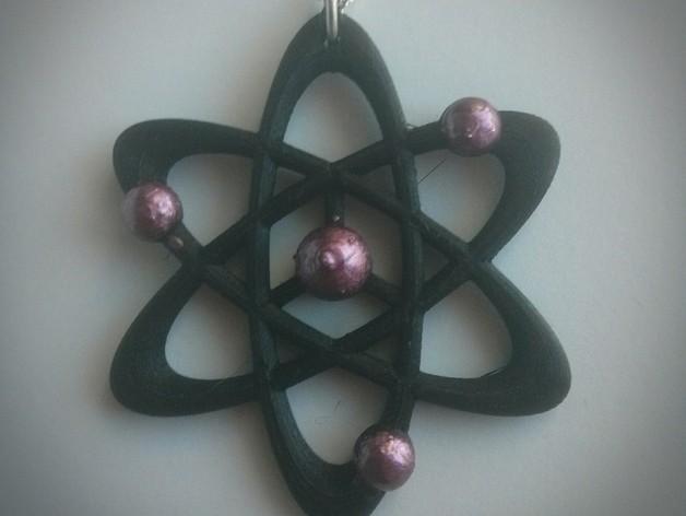 科学元素 项链 3D模型  图2