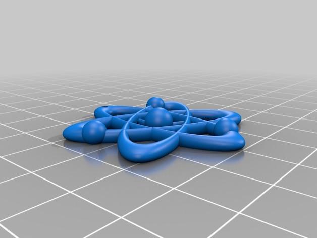 科学元素 项链 3D模型  图3