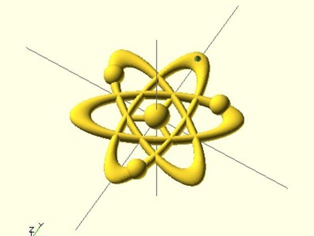 科学元素 项链 3D模型  图4