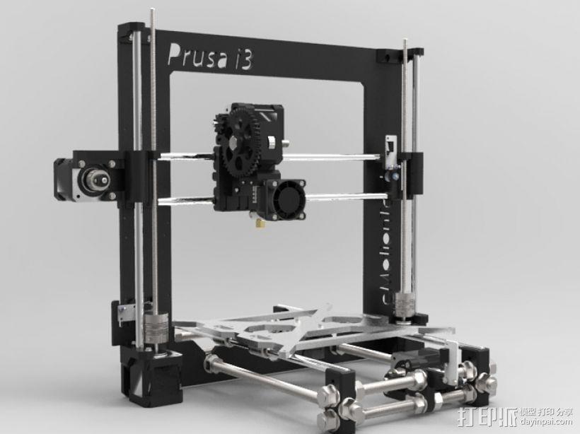 Prusa i3 3D打印机 3D模型  图1
