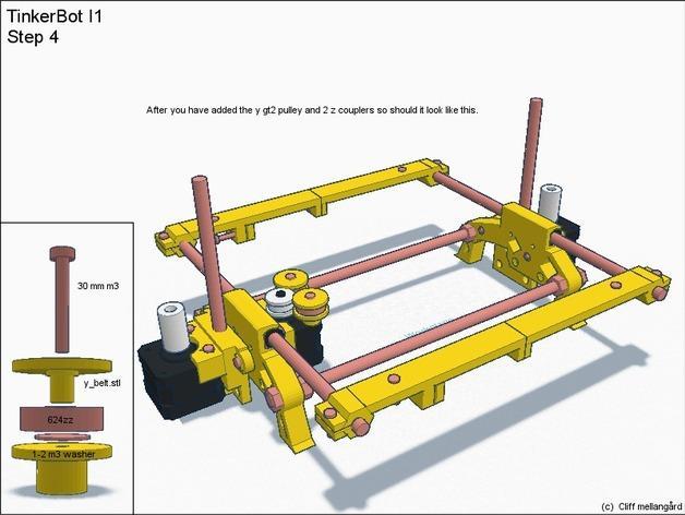 RepRap TinkerBot 3D打印机 3D模型  图9