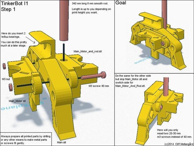 RepRap TinkerBot 3D打印机 3D模型  图6