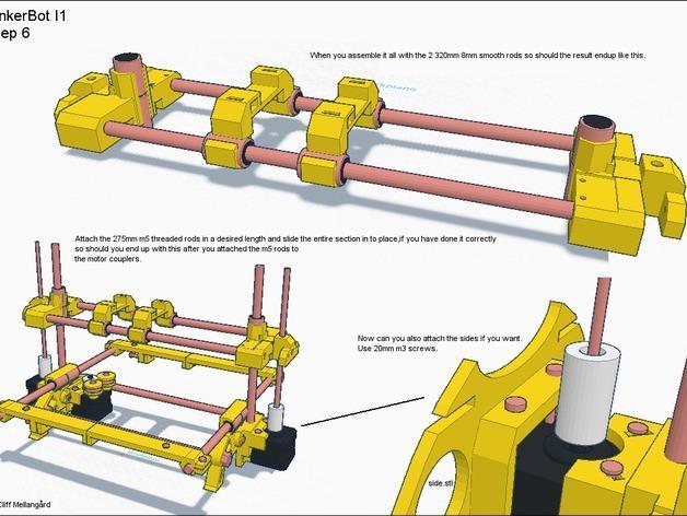 RepRap TinkerBot 3D打印机 3D模型  图11