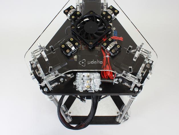 µDelta微型打印机 3D模型  图3