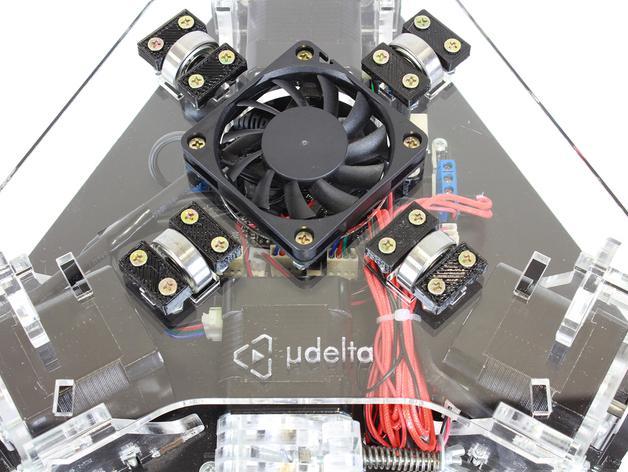 µDelta微型打印机 3D模型  图4