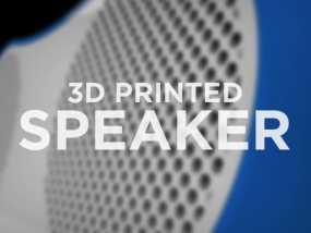 3D打印扬声器外壳 3D模型