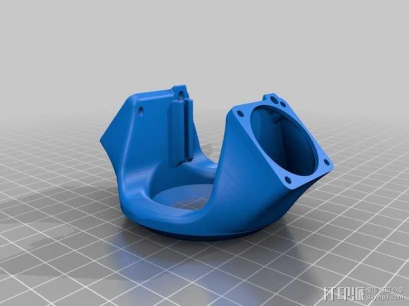 K8200 E3D环式冷却机 3D模型  图2