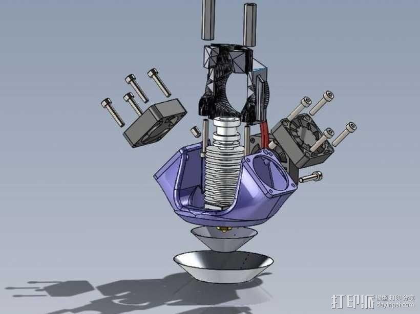 K8200 E3D环式冷却机 3D模型  图4