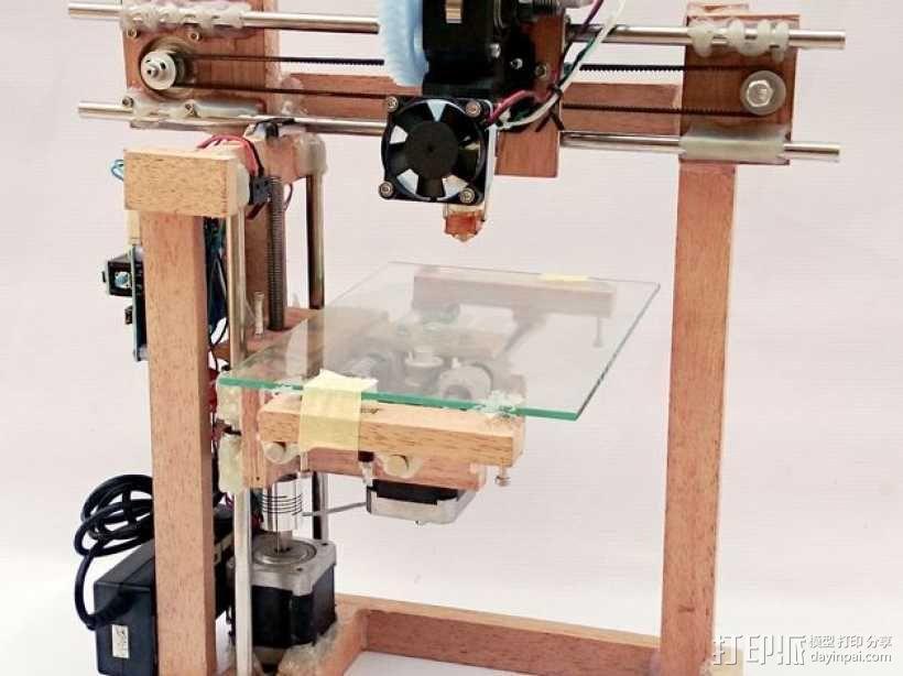 木质repstrap 3D打印机 3D模型  图1