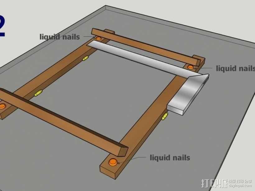 木质repstrap 3D打印机 3D模型  图7