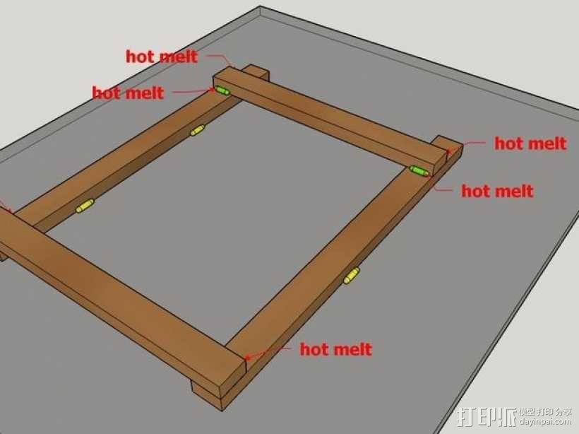 木质repstrap 3D打印机 3D模型  图8