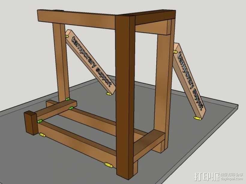 木质repstrap 3D打印机 3D模型  图11