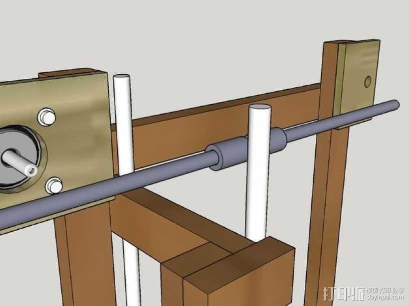 木质repstrap 3D打印机 3D模型  图13