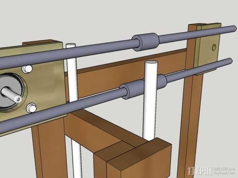 木质repstrap 3D打印机 3D模型  图14