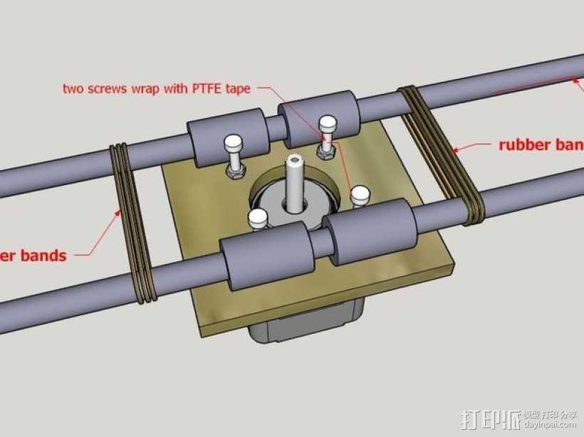 木质repstrap 3D打印机 3D模型  图20
