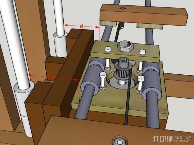 木质repstrap 3D打印机 3D模型  图16
