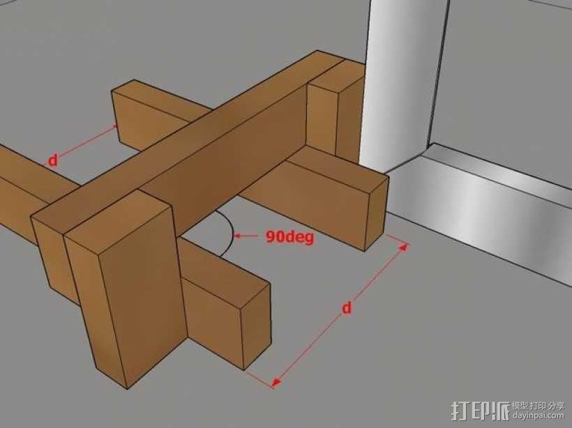 木质repstrap 3D打印机 3D模型  图19