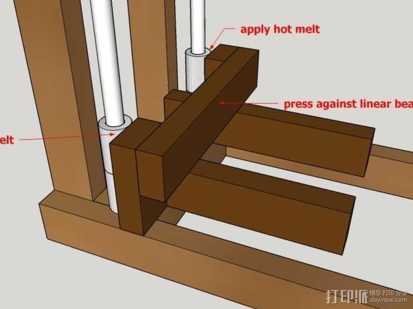 木质repstrap 3D打印机 3D模型  图24