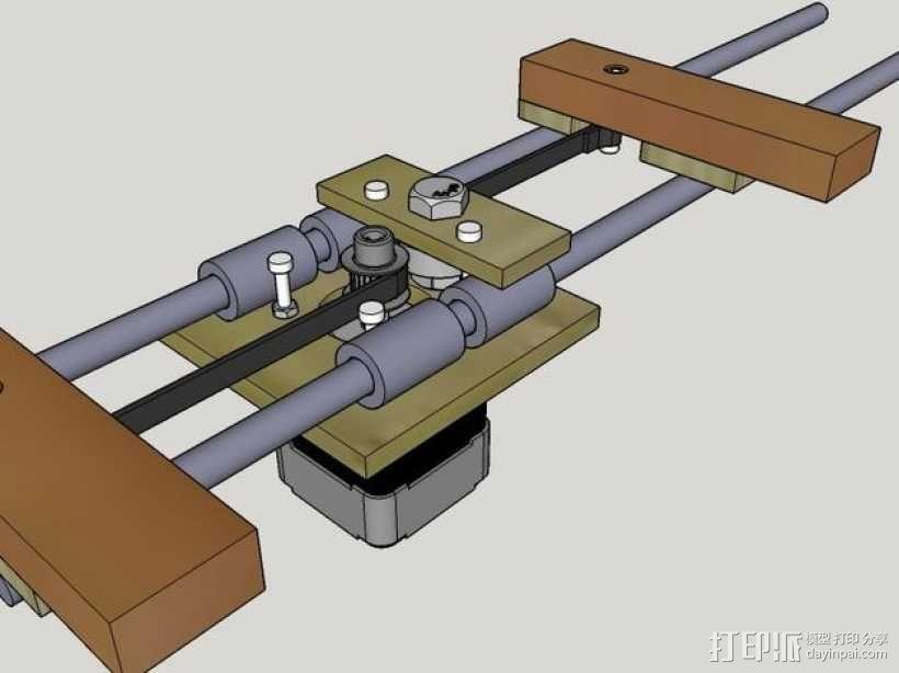木质repstrap 3D打印机 3D模型  图21