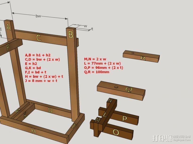 木质repstrap 3D打印机 3D模型  图23