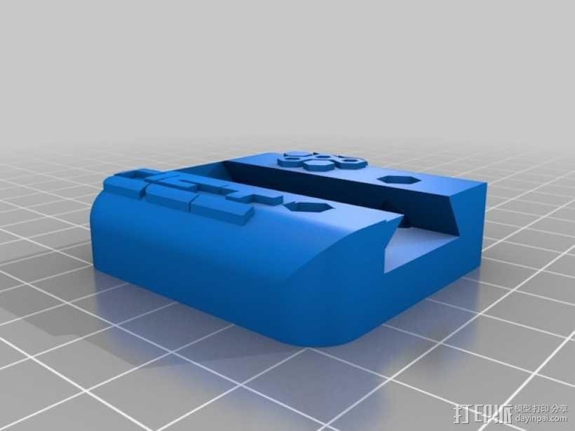 75齿轮驱动挤出机 3D模型  图2