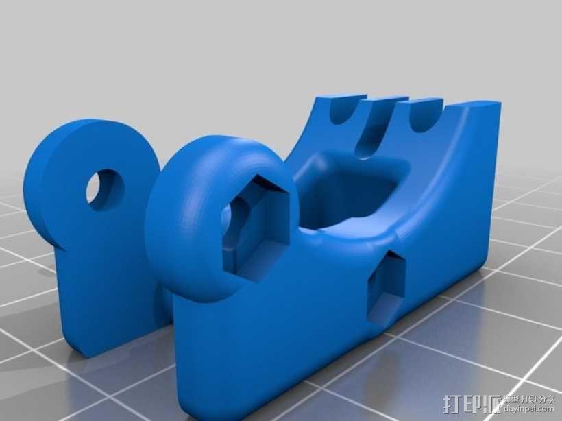 75齿轮驱动挤出机 3D模型  图5