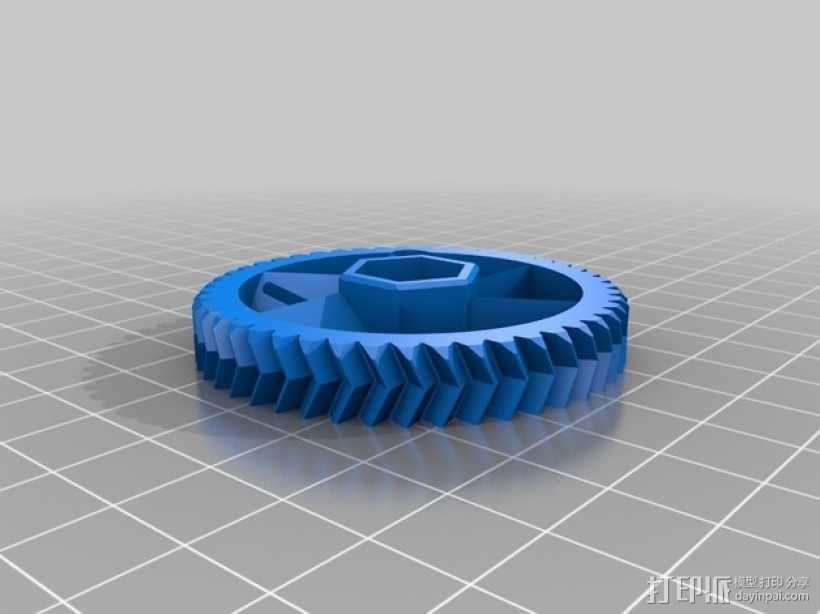 75齿轮驱动挤出机 3D模型  图6