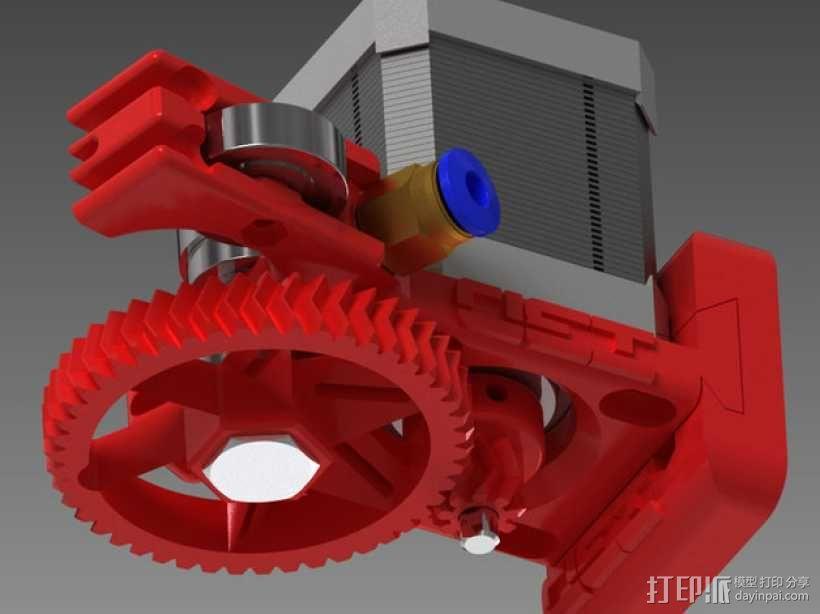 75齿轮驱动挤出机 3D模型  图8