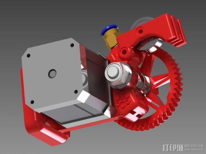 75齿轮驱动挤出机 3D模型  图11