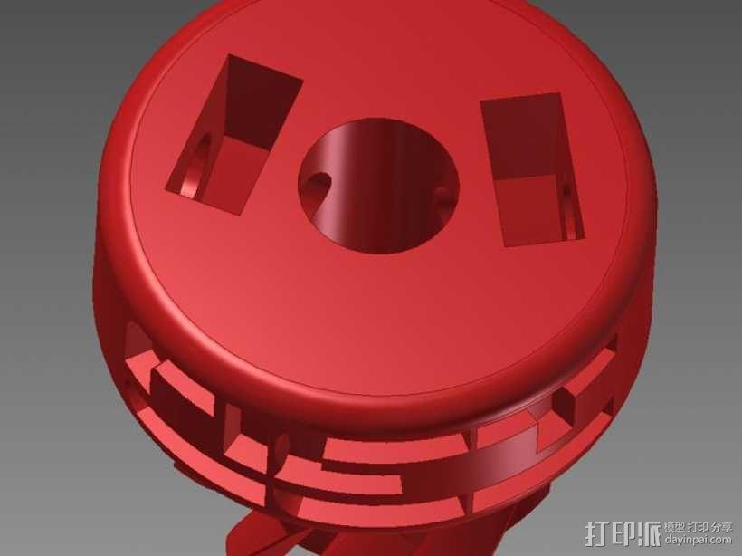 75齿轮驱动挤出机 3D模型  图13