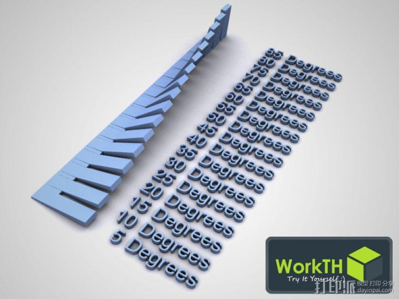 ABS/PLA 3D打印模型角度测试 3D模型  图1
