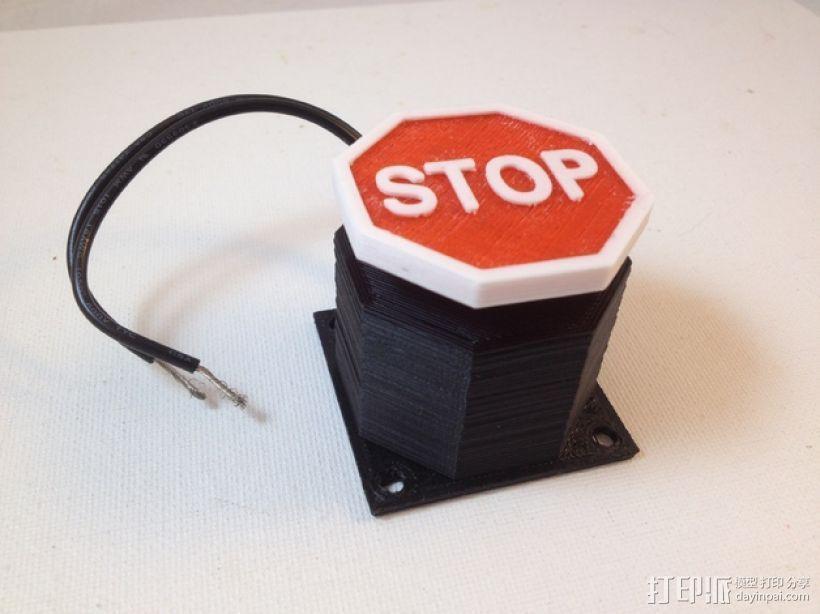 紧急按钮 3D模型  图1